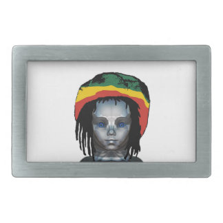 Robotics Rastafarian Rectangular Belt Buckle