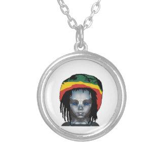 Robotics Rastafarian Silver Plated Necklace