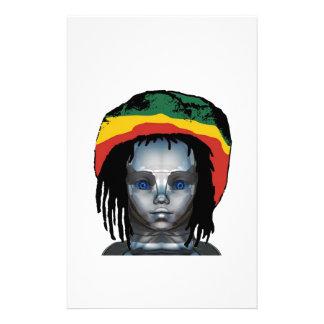 Robotics Rastafarian Stationery