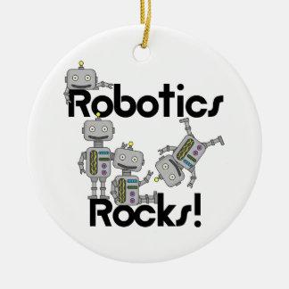 Robotics Rocks Round Ceramic Ornament