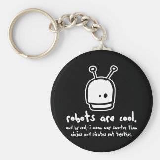 robots are cool2 basic round button keychain