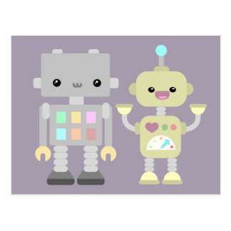 Robots At Play Postcard