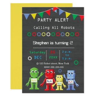 Robots Birthday party Invitations