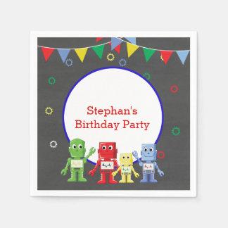 Robots Birthday party napkins