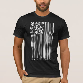 Robots for President (2D + barcode flag) T-Shirt