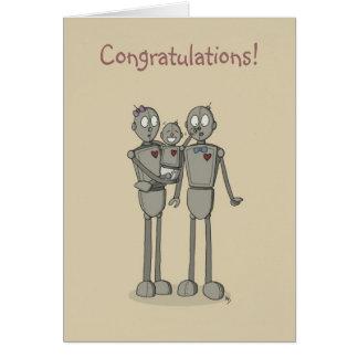 Robots Greeting Card