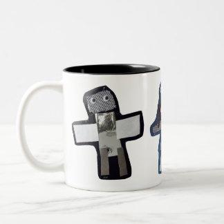 ROBOTS jaisal, maddy, stella Two-Tone Coffee Mug