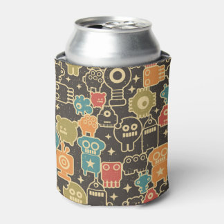 Robots on brown can cooler