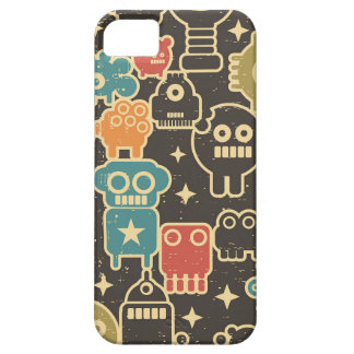 Robots on brown iPhone 5 case