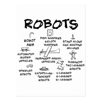 ROBOTS POSTCARD