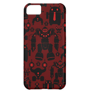 Robots Rule Fun Robot Silhouettes Red Robotics iPhone 5C Cover