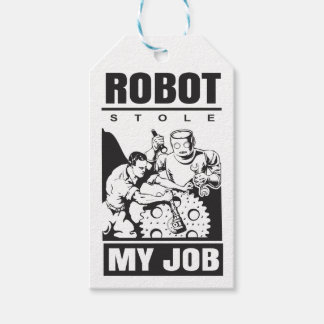 robots stole my job gift tags