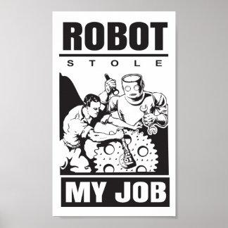 robots stole my job poster