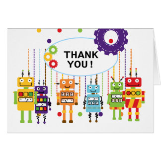 Robots Thank You Note Cards