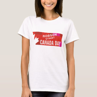 ROBSON STREET canada day t-shirt
