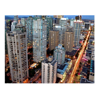 Robson Street Vancouver British Columbia postcard