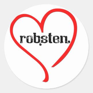ROBSTEN LOVE CLASSIC ROUND STICKER