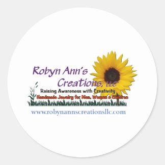 Robyn Ann's Creations, LLC Round Sticker