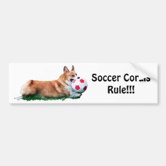ROCHE de Corgis du football ! ! Adhésif pour pare- Autocollant De Voiture