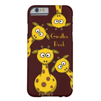 Roche de girafes - option des textes coque barely there iPhone 6