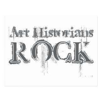 Roche d'historiens d'art carte postale