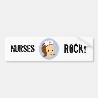 Roche d'infirmières autocollant de voiture