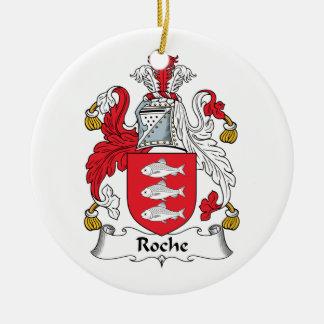Roche Family Crest Ceramic Ornament