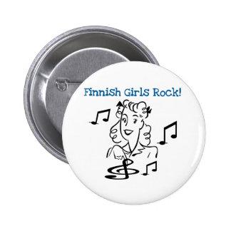 Roche finlandaise de filles macaron rond 5 cm
