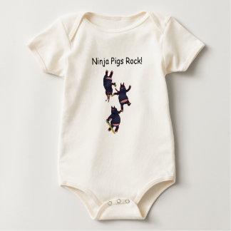 Roche Onesee de porcs de Wizard101 Ninja Body Pour Bébé