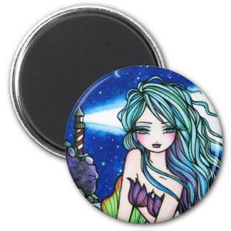 Rochelle Mermaid Fantasy Fairy Lighthouse Magnet