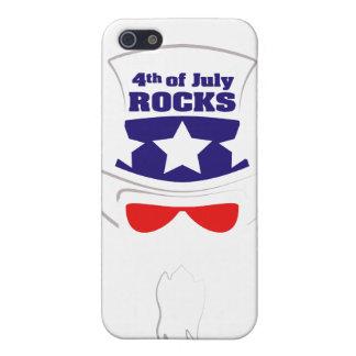 """""""ROCHES 4 juillet"""" enfermant Étuis iPhone 5"""