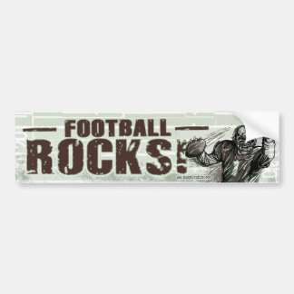 Roches du football ! Bumpersticker Autocollant De Voiture