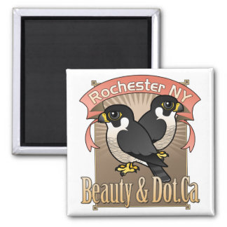 Rochester Beauty & Dot.Ca Square Magnet