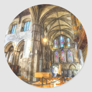 Rochester Cathedral Art Classic Round Sticker