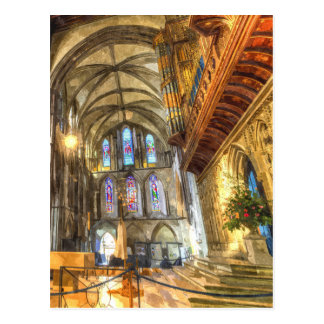 Rochester Cathedral Art Postcard