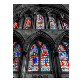 Rochester Cathedral Stained Glass Windows Postcard