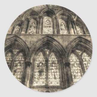 Rochester Cathedral Stained Glass Windows Vintage Classic Round Sticker