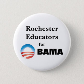 Rochester Educators for Obama 2 Inch Round Button