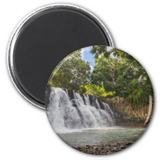 Rochester Falls waterfall in Souillac Mauritius 2 Inch Round Magnet