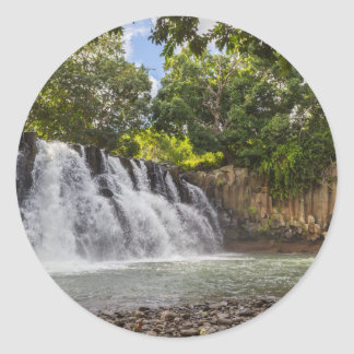 Rochester Falls waterfall in Souillac Mauritius Classic Round Sticker