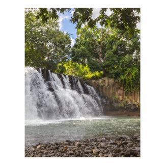 Rochester Falls waterfall in Souillac Mauritius Letterhead