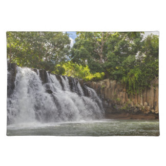 Rochester Falls waterfall in Souillac Mauritius Place Mat