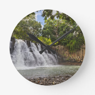 Rochester Falls waterfall in Souillac Mauritius Round Clock