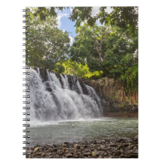 Rochester Falls waterfall in Souillac Mauritius Spiral Notebook