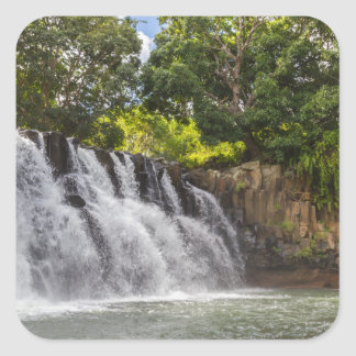 Rochester Falls waterfall in Souillac Mauritius Square Sticker