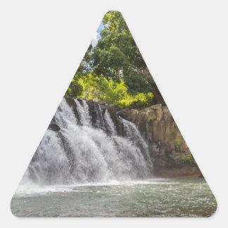 Rochester Falls waterfall in Souillac Mauritius Triangle Sticker