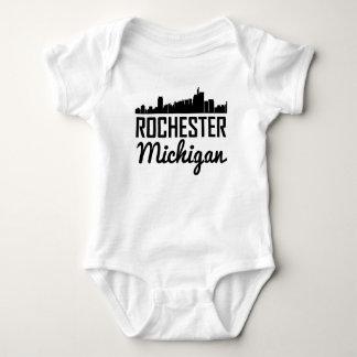Rochester Michigan Skyline Baby Bodysuit