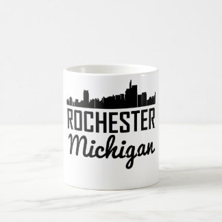 Rochester Michigan Skyline Coffee Mug