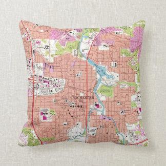 Rochester Minnesota Map (1972) Throw Pillow