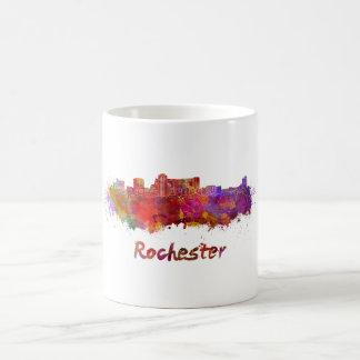 Rochester MN skyline in watercolor Coffee Mug